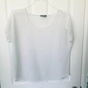 Alfani White Lace Cover Up / Sheer Top L